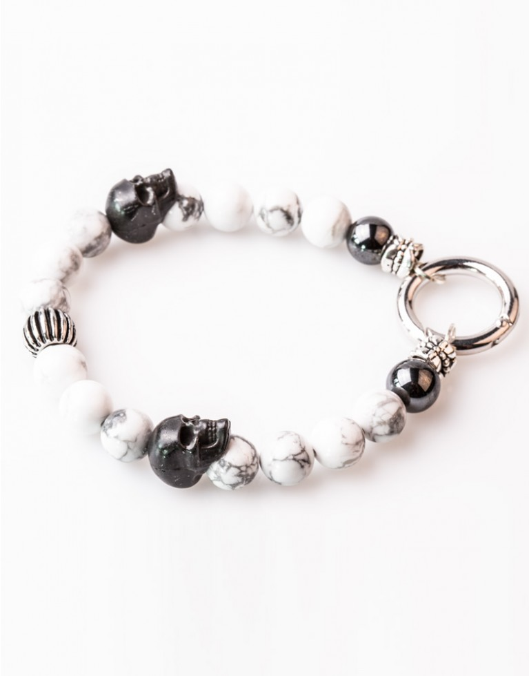 Armband / Bracelet Howlith with Lock