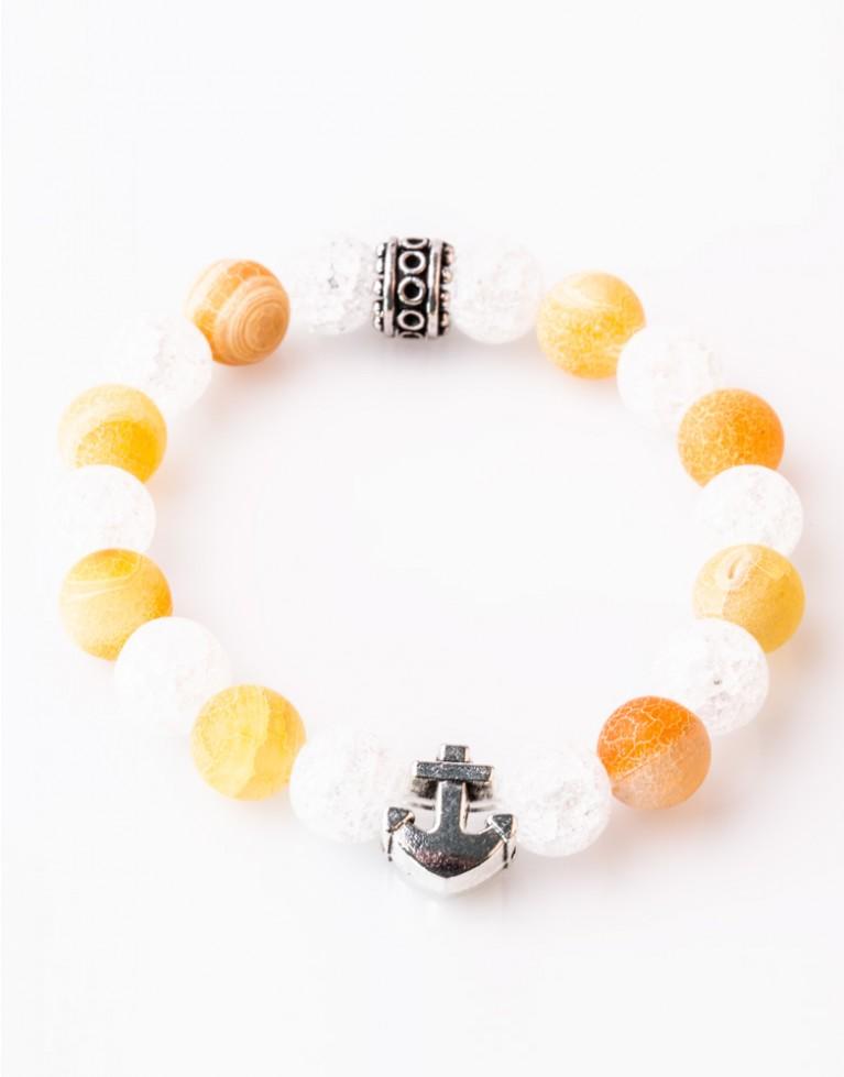 Armband / Bracelet Achat Chrystal Orange