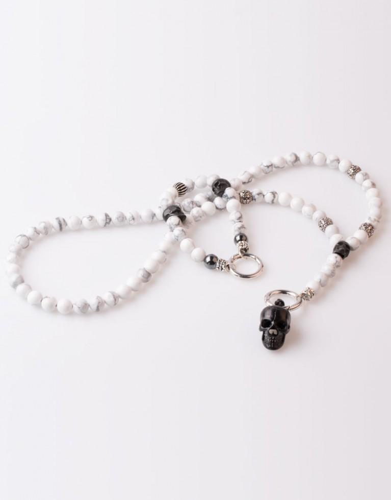 Halskette / Necklace Black Howlith