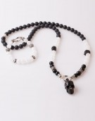 Halskette Necklace Chrystal Onyx